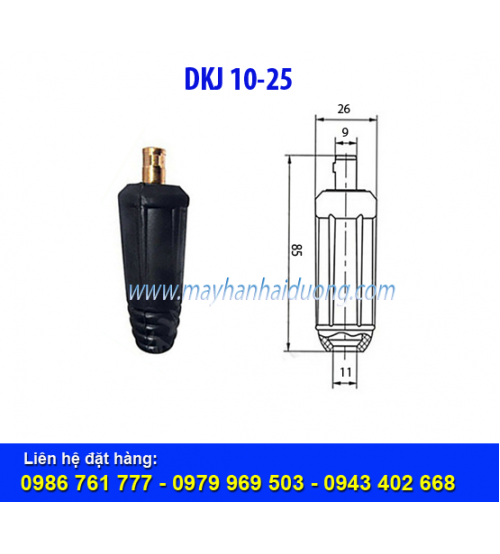 Giắc nối cáp hàn DKJ 10-25