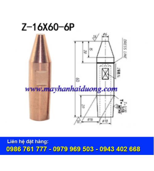 ĐIỆN CỰC HÀN BẤM D16x60-6P