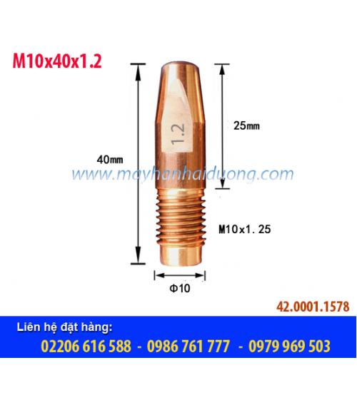 Bép hàn MIG M10x40x1.2