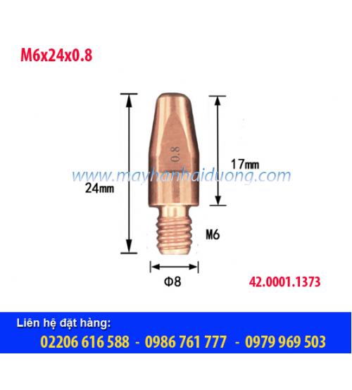 Bép hàn MIG M6x24x0.8