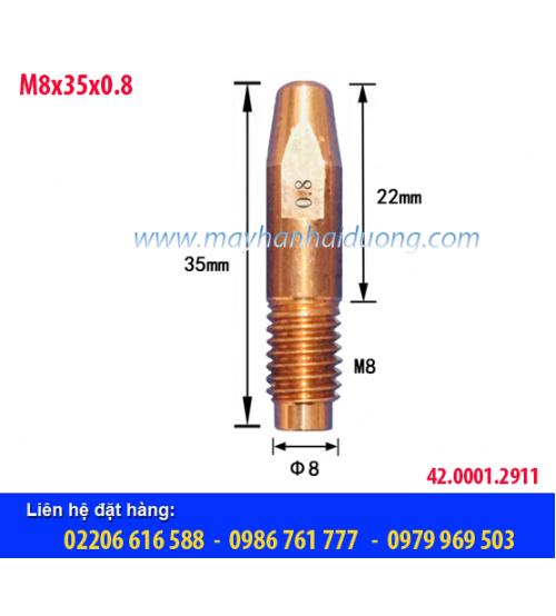 Bép hàn MIG M8x35x0.8