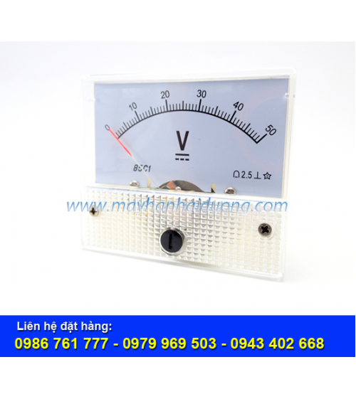 Đồng hồ đo điện áp 0-50VDC
